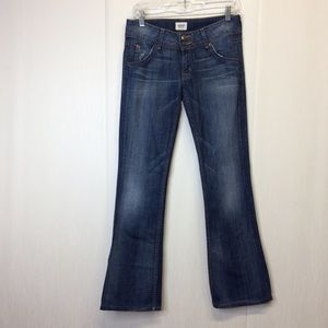 Hudson Mid Rise Signature Boot Cut Jeans-SZ 27